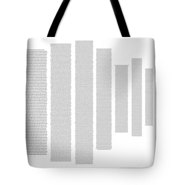 World's Longest Word Titin Protein Tote Bag