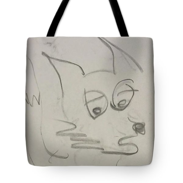 Worried Fox Sketch Tote Bag