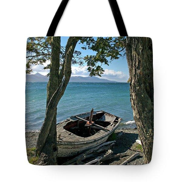 Wrecked Boat Patagonia Tote Bag