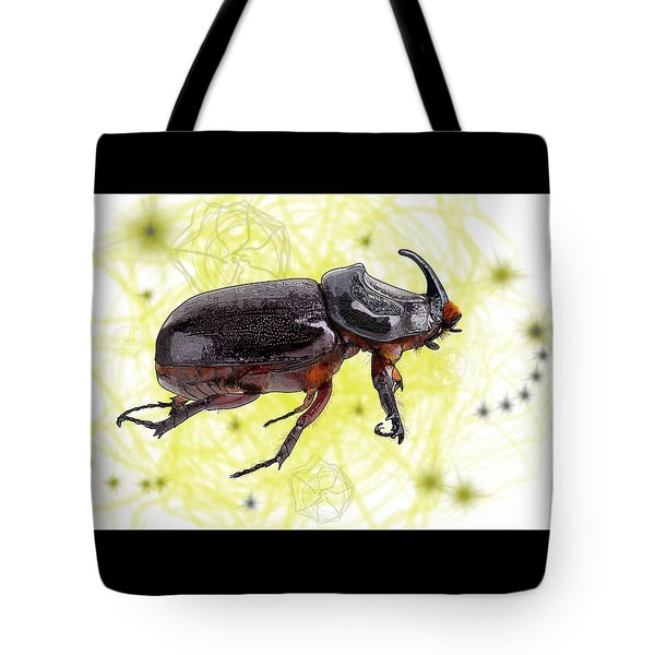 X Is For Xylotrupes Ulysses  Aka Rhinoceros Beetle Tote Bag