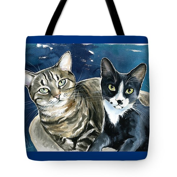 Xani And Zach Cat Painting Tote Bag