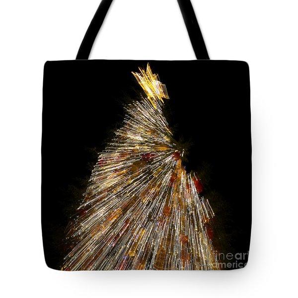Xmas Tree Motion Art Tote Bag