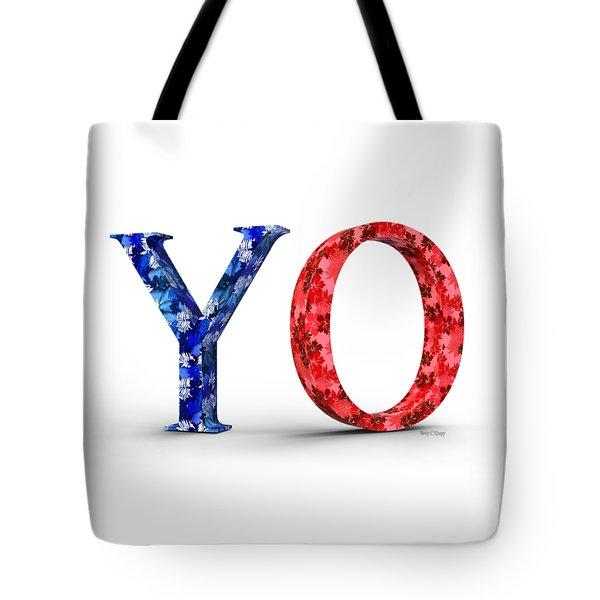 Y O Tote Bag