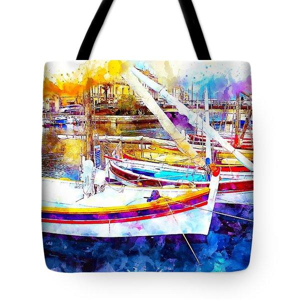 Yacht Harbor Tote Bag