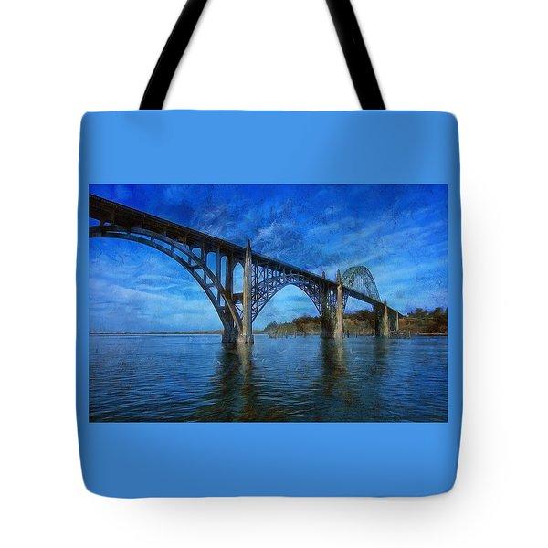 Yaquina Bay Bridge From South Beach Tote Bag