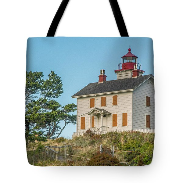 Tote Bag featuring the photograph Yaquina Bay Lighthouse by Matthew Irvin