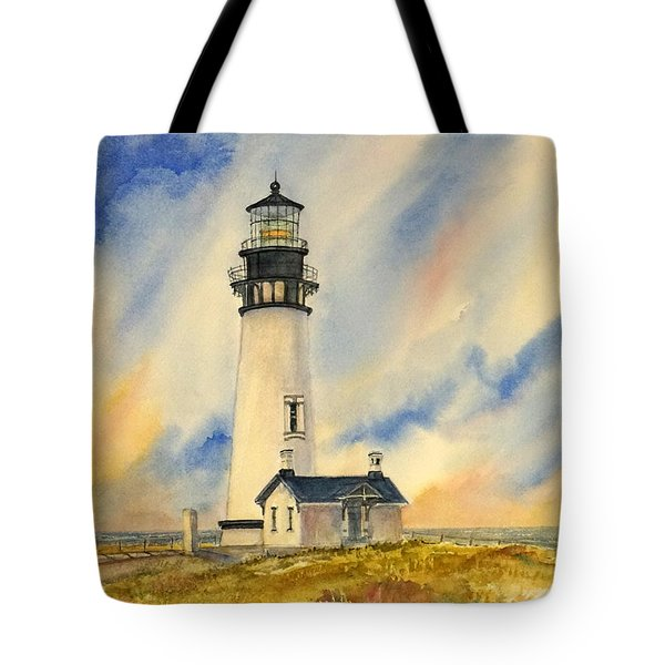 Yaquina Head - Late Afternoon Sunlight Tote Bag