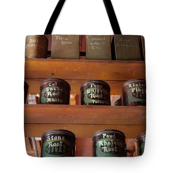 Ye Olde Time Pharmaceuticals Tote Bag