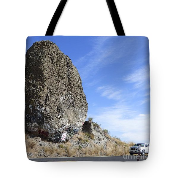 Yeager Rock - A Glacial Erratic Tote Bag