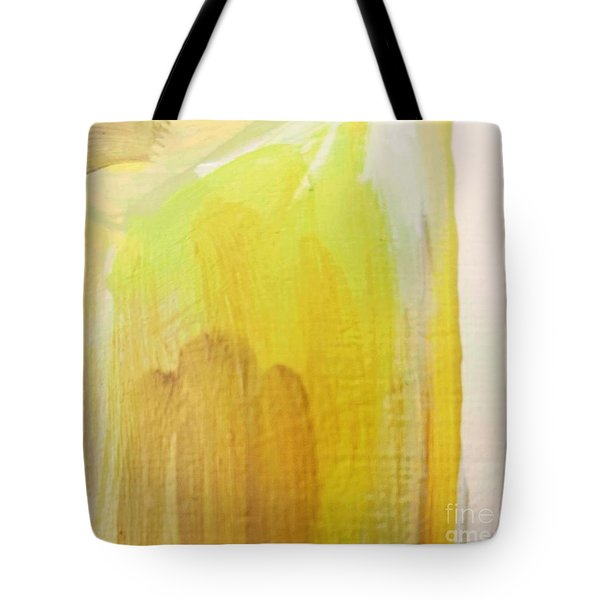 Tote Bag featuring the painting Yellow #3 by Maria Langgle