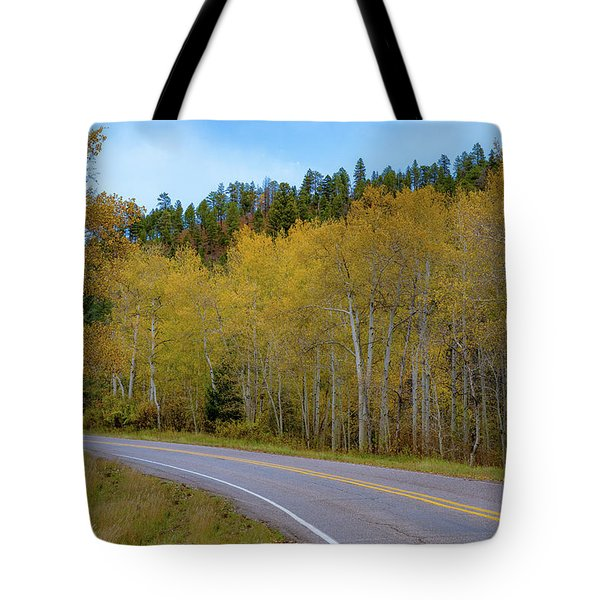 Yellow Aspens Tote Bag