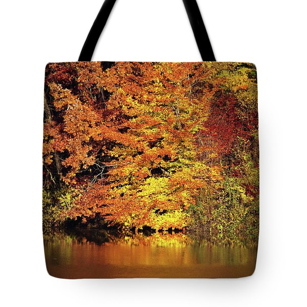 Tote Bag featuring the photograph Yellow Autumn Leaves by Mike Murdock