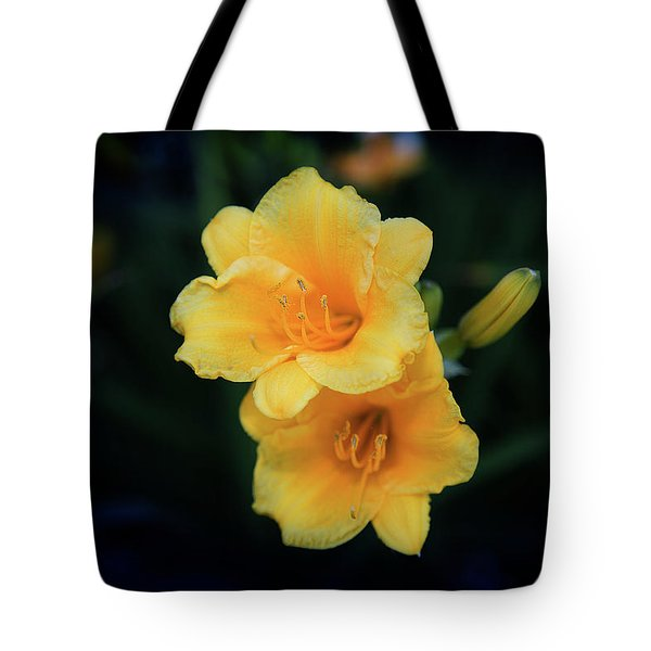 Tote Bag featuring the photograph Yellow Duo by Milena Ilieva