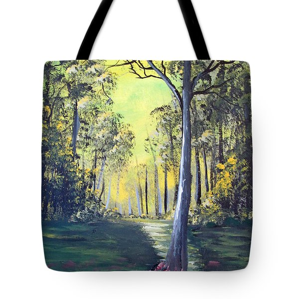 Yellow Forrest Tote Bag