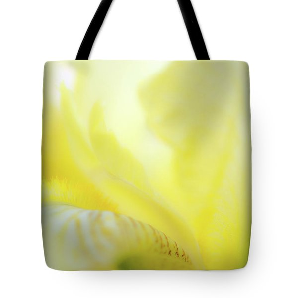 Tote Bag featuring the photograph Yellow Iris 2 by Leland D Howard