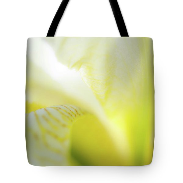 Tote Bag featuring the photograph Yellow Iris 5 by Leland D Howard