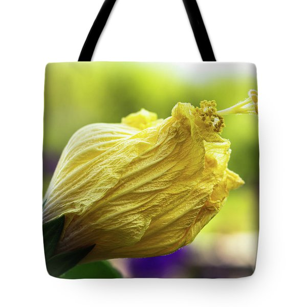 Yellow Mature Hibiscus  Tote Bag