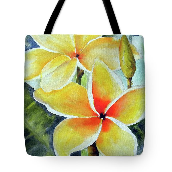 Yellow Plumeria Tote Bag