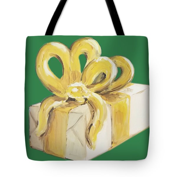 Yellow Present Tote Bag