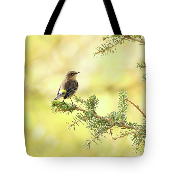 Yellow-rumped Warbler Tote Bag