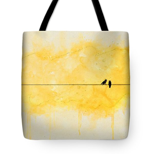 Yellow Sparrow Tote Bag