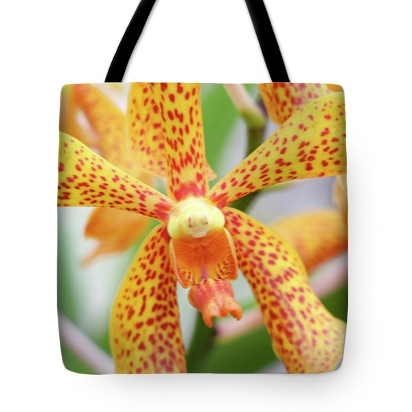 Yellow Spotted Spider Orchids Tote Bag