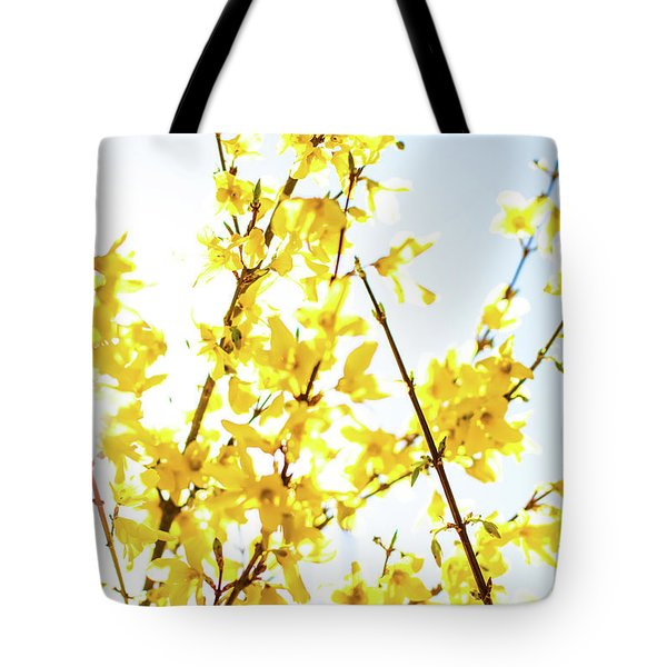 Tote Bag featuring the photograph Yellow Spring Iv by Anne Leven