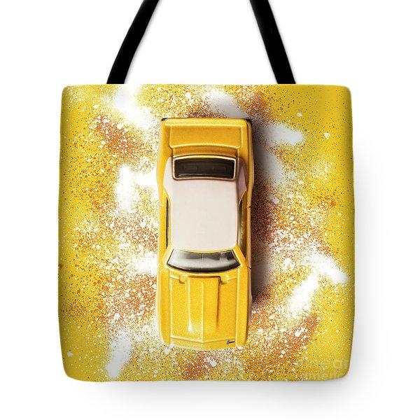 Yellow Street Machine Tote Bag