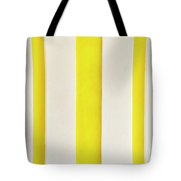 Tote Bag featuring the photograph Yellow Stripes Background by Tim Hester