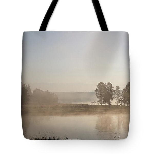 Yellowstone River Early Morning Tote Bag