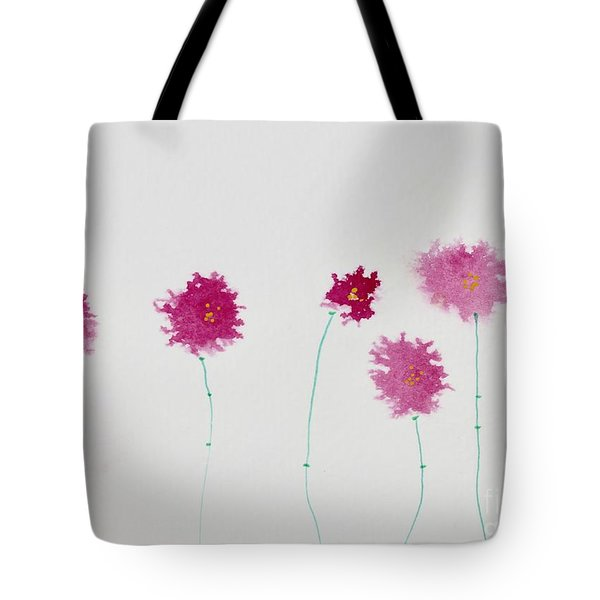 Tote Bag featuring the painting Yesterday's Petals by Kim Nelson