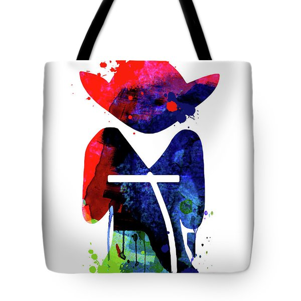 Yoda Cartoon Watercolor 1 Tote Bag