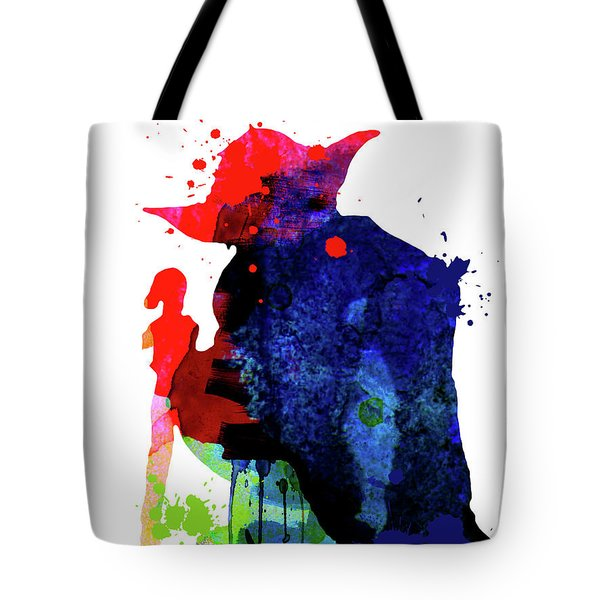 Yoda Cartoon Watercolor 2 Tote Bag