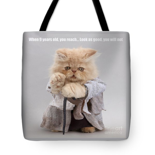 Tote Bag featuring the photograph Yoda Cat by Warren Photographic