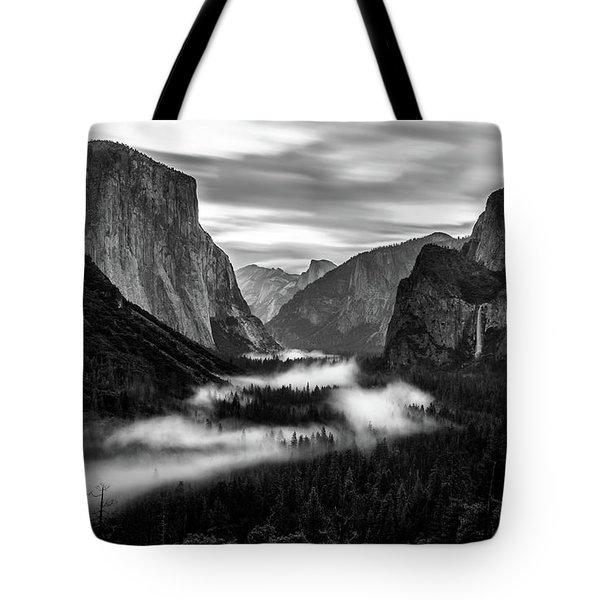 Yosemite Fog 1 Tote Bag