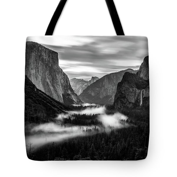 Tote Bag featuring the photograph Yosemite Fog 1 by Stephen Holst