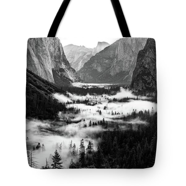 Tote Bag featuring the photograph Yosemite Fog 2 by Stephen Holst