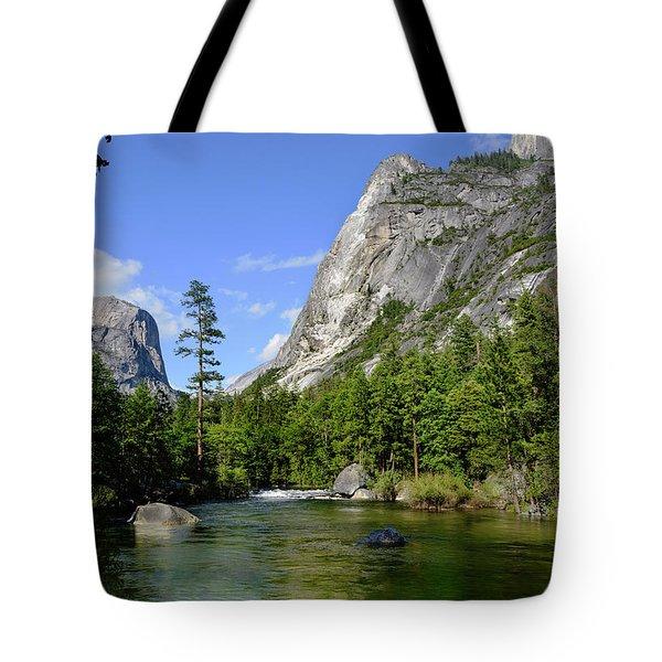 Yosemite Mirror Lake, Lower Pool Tote Bag