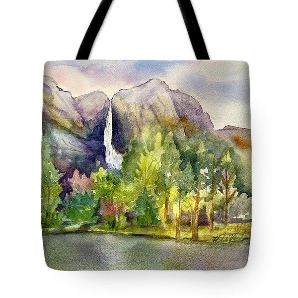 Yosemite Waterfalls Tote Bag