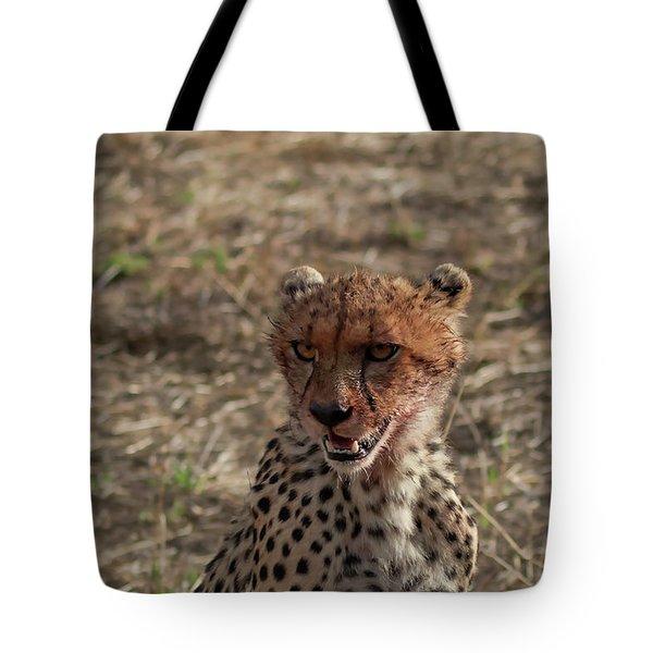 Young Cheetah Tote Bag