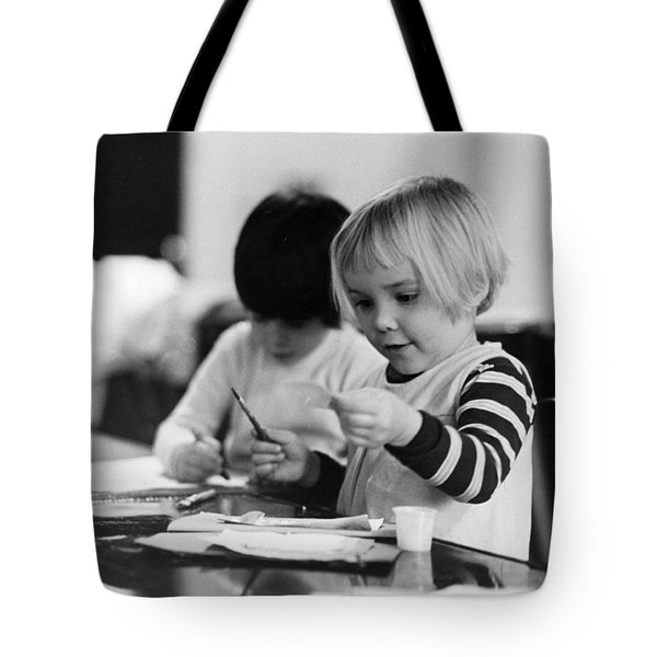 Young Children Drawing Tote Bag