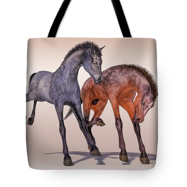 Young Equine Pair Tote Bag