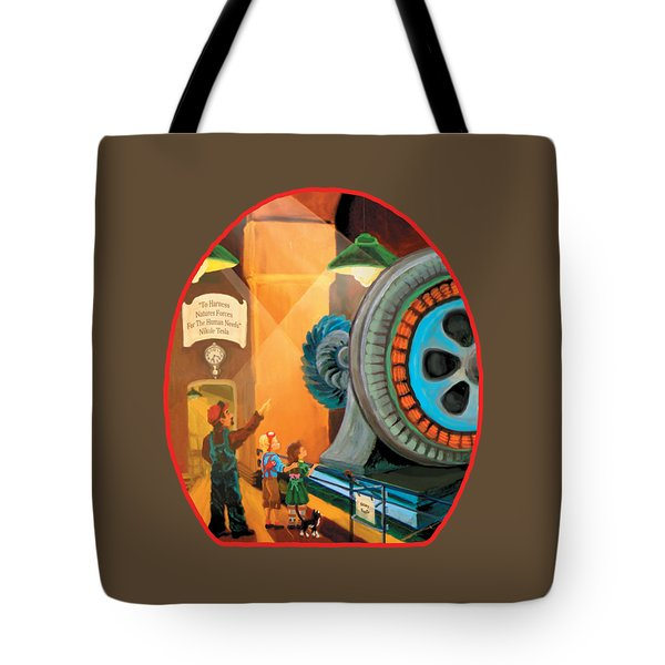 Young Fans Of Tesla Tote Bag