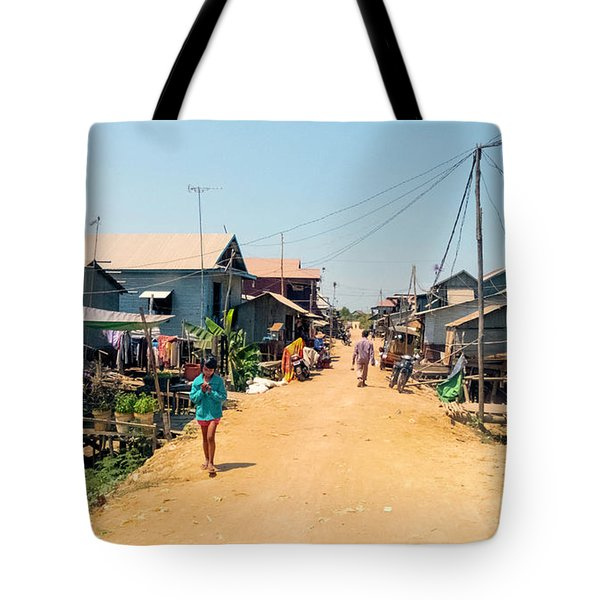 Young Girl - Houses On Stilts - Siem Reap, Cambodia Tote Bag