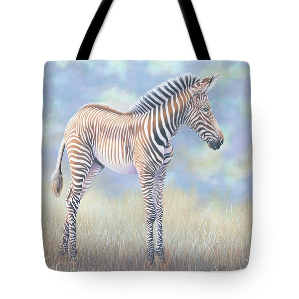 Young Grevy Zebra Tote Bag