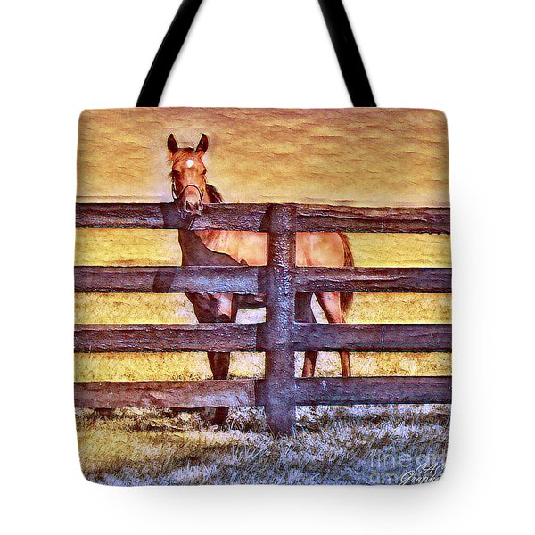 Young Kentucky Thoroughbred Tote Bag