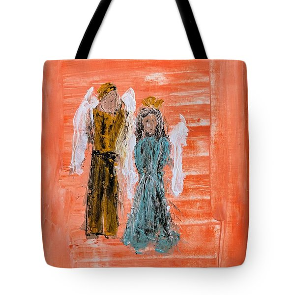 Young Love Angels Tote Bag