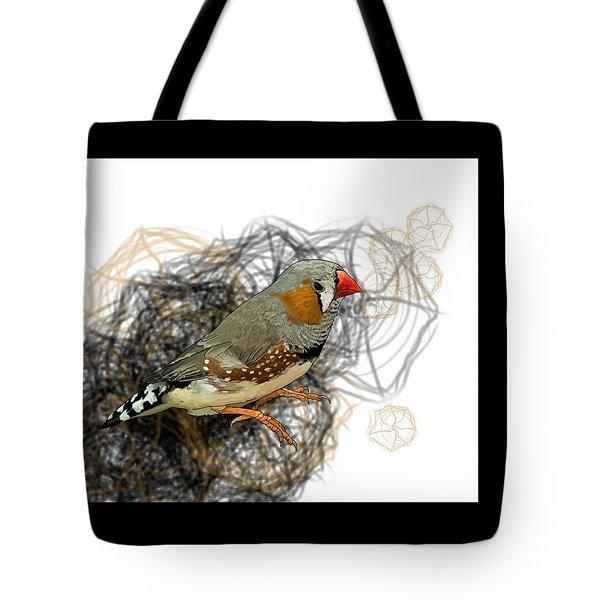 Z Is For Zebra Finch Tote Bag