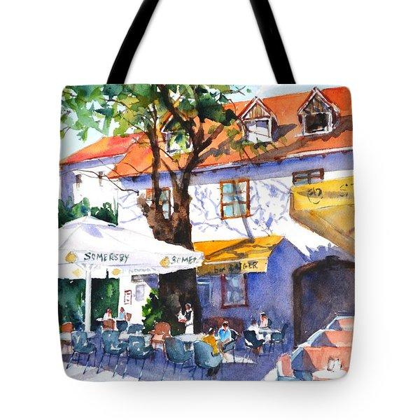 Zagreb Cafe #3 Tote Bag