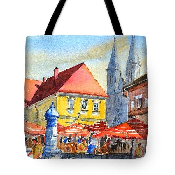 Zagreb Near Dolce Market Tote Bag